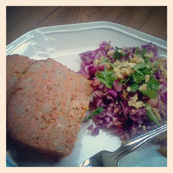 Meatloaf and Slaw